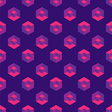 Isometric seamless pattern with optical illusion cubes