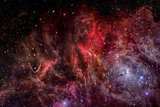 Universe filled with stars, nebula and galaxy.