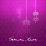 Ramadan kareem greeting card template