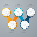 Business infographics. Timeline with 5 circles