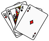 Two pair of poker cards