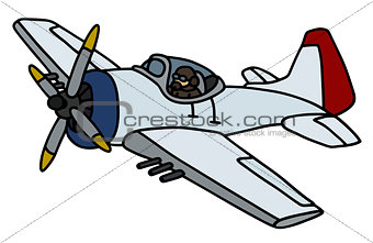 Classic military airplane