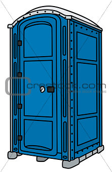 Blue mobile toilet