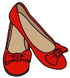 Classic red ballerinas
