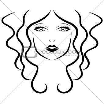 Beautiful women stylized portrait