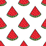 Seamless vector watermelon hand drawing imitation background