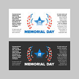 Memorial day sale banner