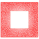 Red Labyrinth Isolated on White Background