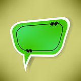 Green Paper Speech Bubble