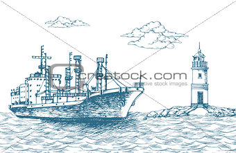 Cargo ship, reefer Forward