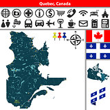 Quebec with cities, Canada