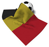 soccer ball and flag of belgium - 3d rendering