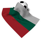 soccer ball and flag of bulgaria - 3d rendering