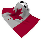 soccer ball and flag of canada - 3d rendering