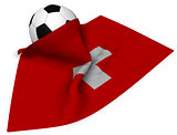 soccerball and flag of switzerland - 3d rendering