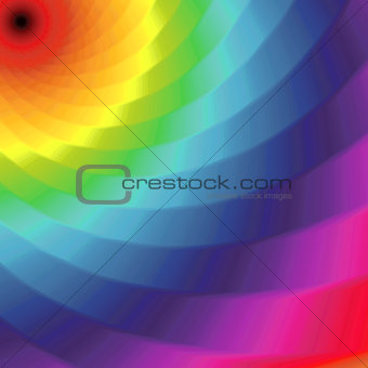 Abstract pattern with twisted bands in spectrum colors