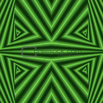 Abstract geometric pattern in green colors