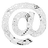 Zentangle stylized sign @