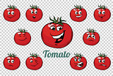 tomato emotions characters collection set