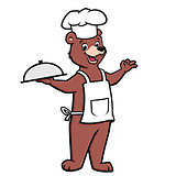 Cartoon Chef Bear