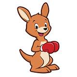 Cartoon Baby Kangaroo