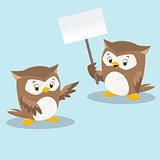 Cute Cartoon Owls
