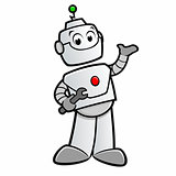 Cartoon Happy Robot