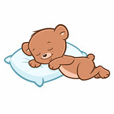 Cartoon Teddy Bear Sleeping