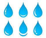 water drop set icons