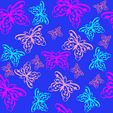 Colorful butterfly seamless pattern