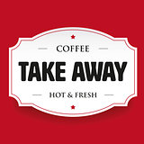 Coffee Take away vintage stamp