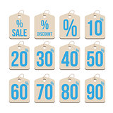 Sale tag set vector