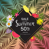 Summer Sale Abstract Background Vector Illustration