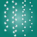 Garlands of christmas decorations - upright Christmas Lights