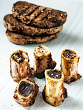 rustic english bone marrow toast