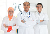 Asian medical doctors team portrait