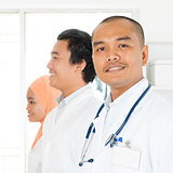 Asian medical team portrait