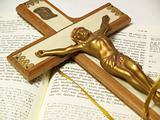 Crucifix on Greek New Testament