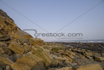 Cliffs and rocks at the seaside