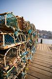 Lobster Fishing at the dock at Whitby