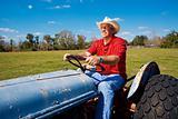 Farmer Mows the Field