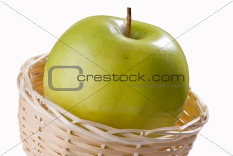 Green apple in punnet