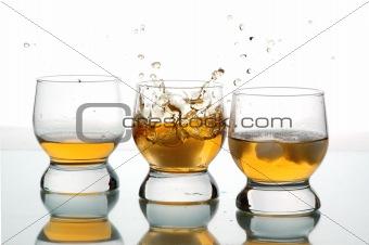 three glasses