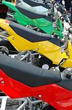 colorful motorcycles
