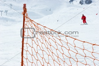 Ski slope fence