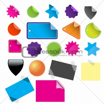 Glossy sale tags for business