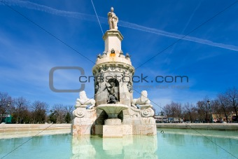 Fountain in Aranjuez close to the palace
