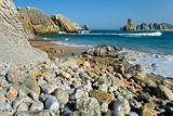 Rocks on Liencres's coast in Cantabria