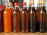 Bottles with Honey and Juice