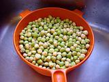 Peas in Colander